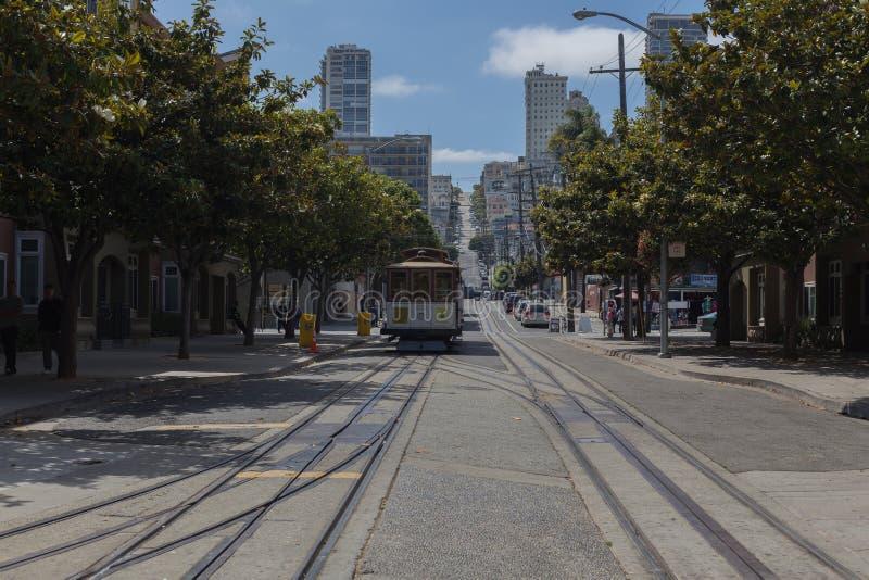 San Fransisco wagon kolei linowej zdjęcia royalty free