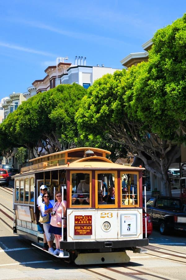 San Fransisco wagon kolei linowej -23 fotografia royalty free