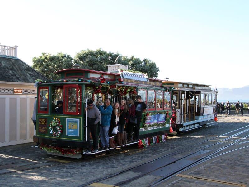 San Fransisco wagon kolei linowej fotografia royalty free