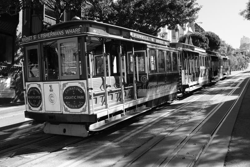 San Fransisco wagony kolei linowej obrazy stock