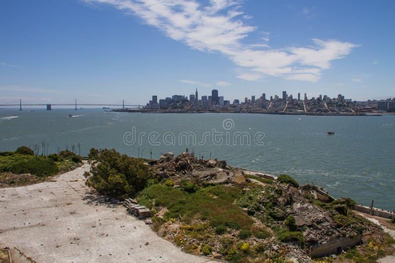San Fransisco widok od Alcatraz wyspy, Kalifornia zdjęcia royalty free