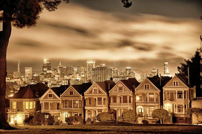 San Fransisco Wiktoriański domy fotografia royalty free