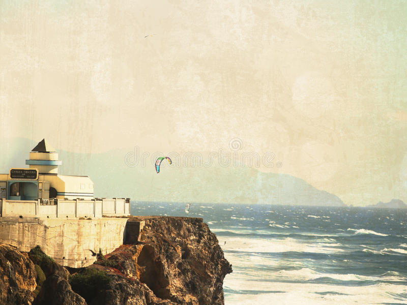 San Fransisco wybrzeża kani surfing. obrazy royalty free