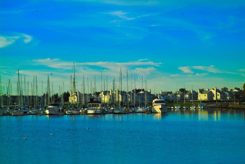 San Fransisco zatoki terenu ulicy widok na ocean zdjęcie stock