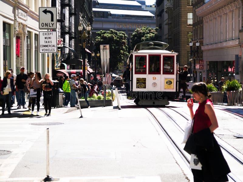 San Fransisco zatoki terenu ulicy widok na ocean obraz stock