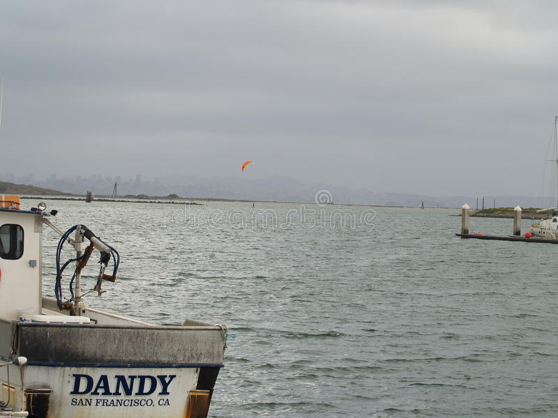 San Fransisco zatoki terenu widok na ocean zdjęcie stock