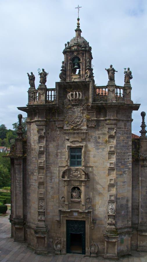 San Fructuoso Church in the Old Town of Santiago de Compostela, Spain stock photography