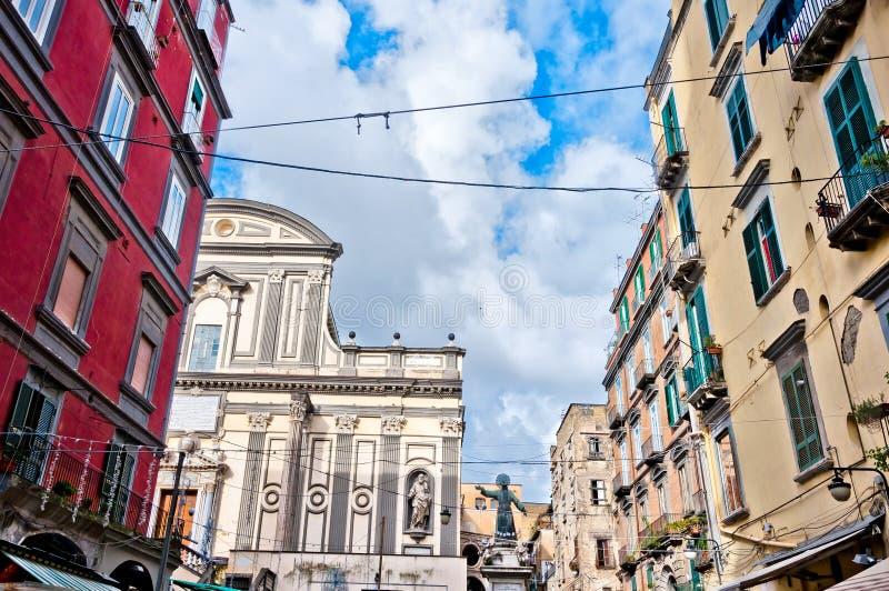 San Gaetano staty i Naples, Italien royaltyfria foton