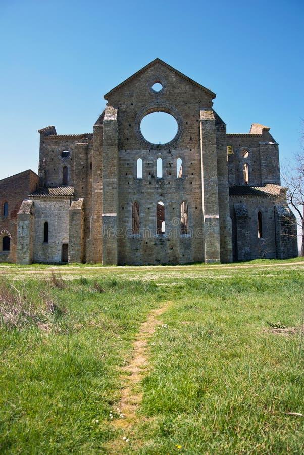 San Galgano Abbey royalty free stock photography