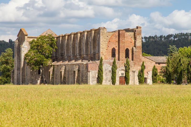 Download San Galgano Abbey stock photo. Image of building, historic - 39507622