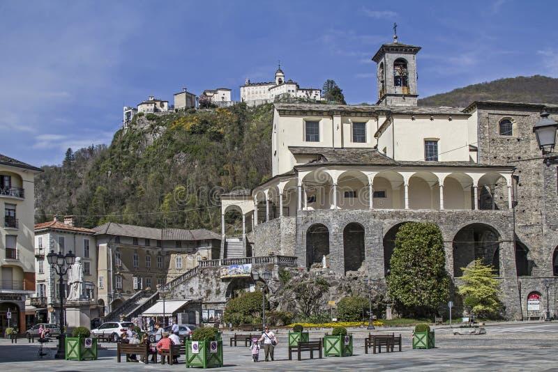 San Gaudenzio w Varallo Sesia fotografia royalty free