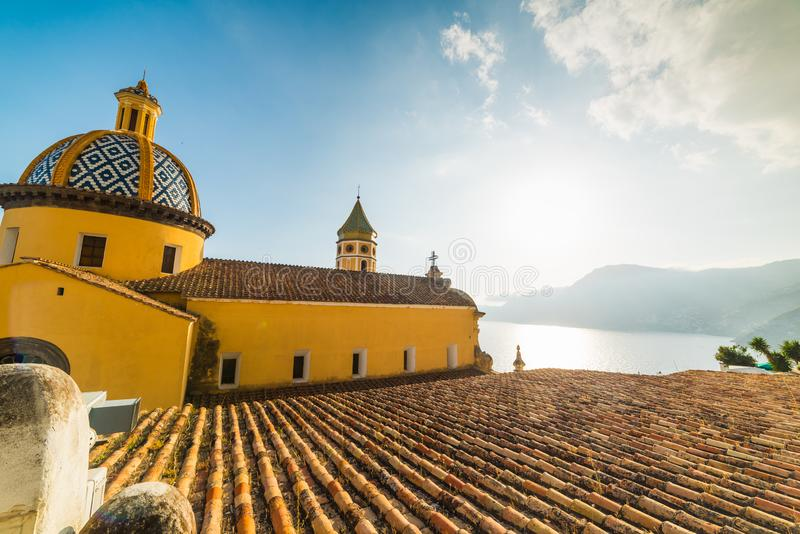 San Gennaro Church in Praiano royalty-vrije stock foto