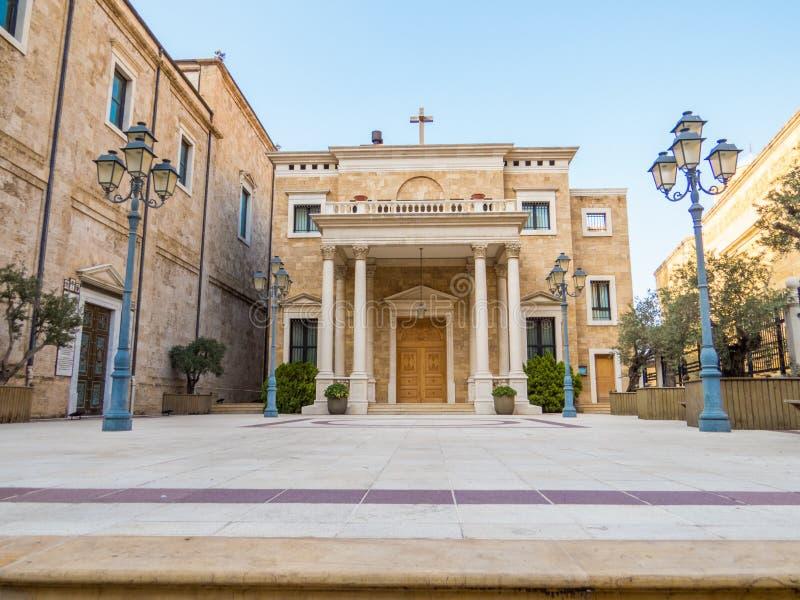 San George Maronite Greek Orthodox Cathedral a Beirut, Libano fotografia stock libera da diritti