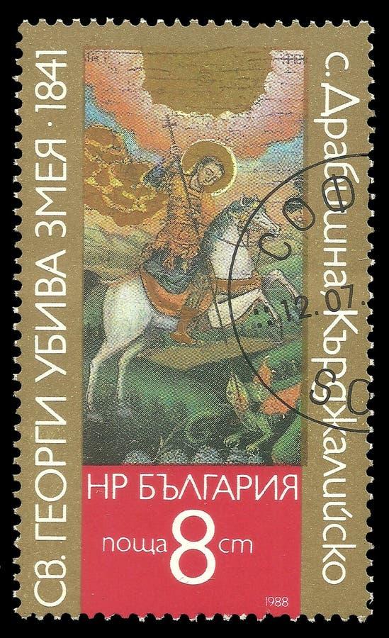 San George Slaying dell'icona il drago immagine stock