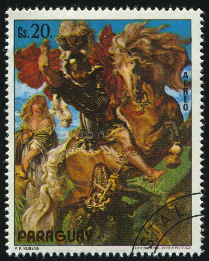San George Slaying il drago da Rubens fotografie stock
