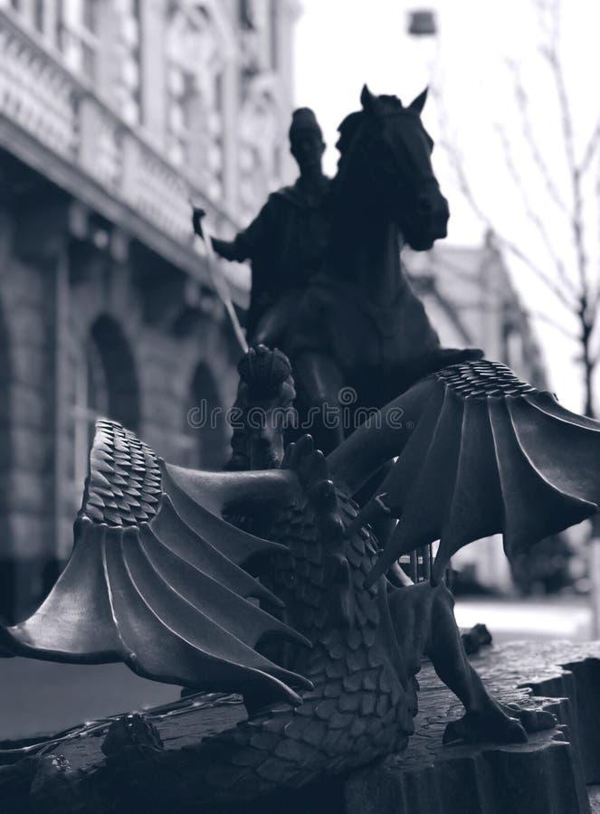 San George Slays un drago - DRAGO immagini stock libere da diritti