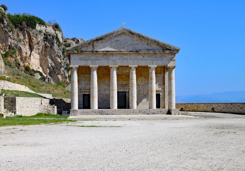 San Georges Church nella città di Corfù, Corfù, Grecia immagini stock libere da diritti