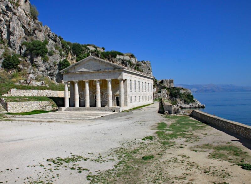 San Georges Church nella città di Corfù, Corfù, Grecia fotografia stock libera da diritti