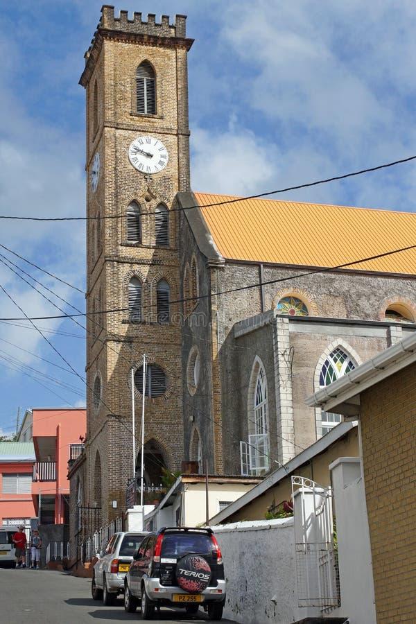 San Georges, Granada, caraibica fotografia stock libera da diritti