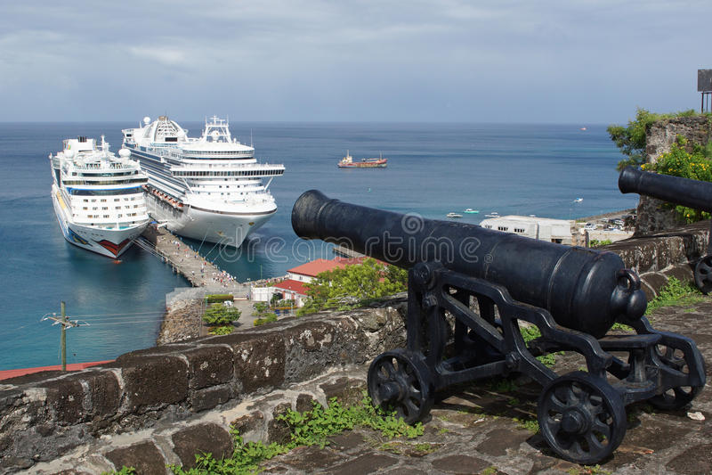 San Georges, Granada, caraibica immagine stock libera da diritti