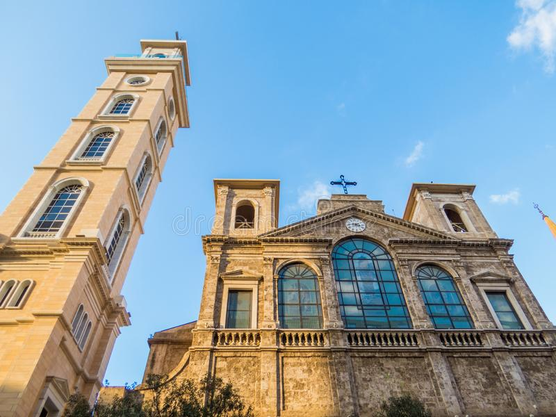 San Georges Maronite Cathedral a Beirut, Libano immagine stock libera da diritti