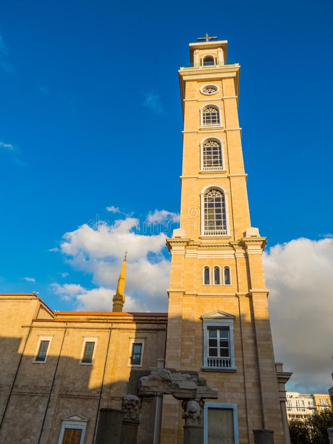 San Georges Maronite Cathedral a Beirut, Libano immagine stock