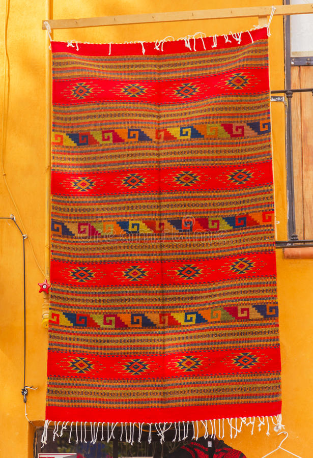 San geral mexicano alaranjado colorido Miguel de Allende Mexico imagem de stock