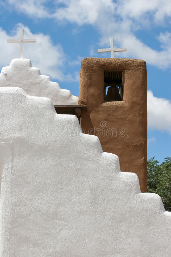 San Geronimo Chapel en el pueblo de Taos, los E imagenes de archivo