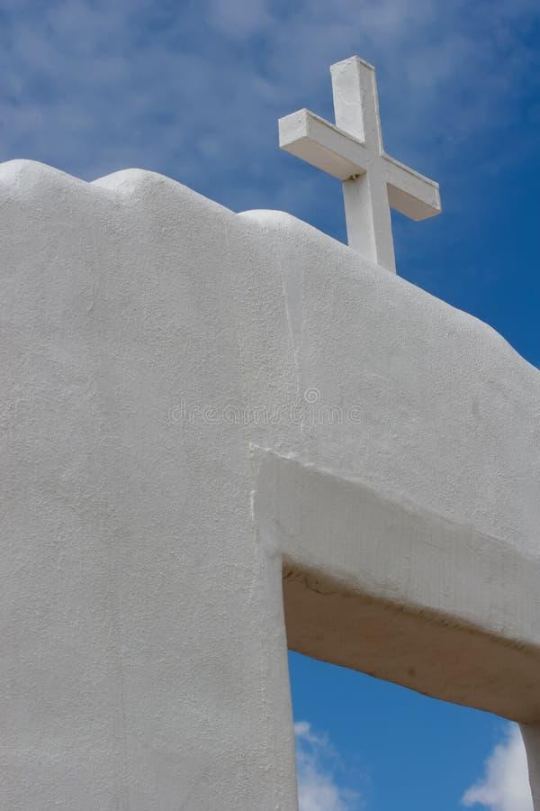 San Geronimo Chapel en el pueblo de Taos, los E imágenes de archivo libres de regalías