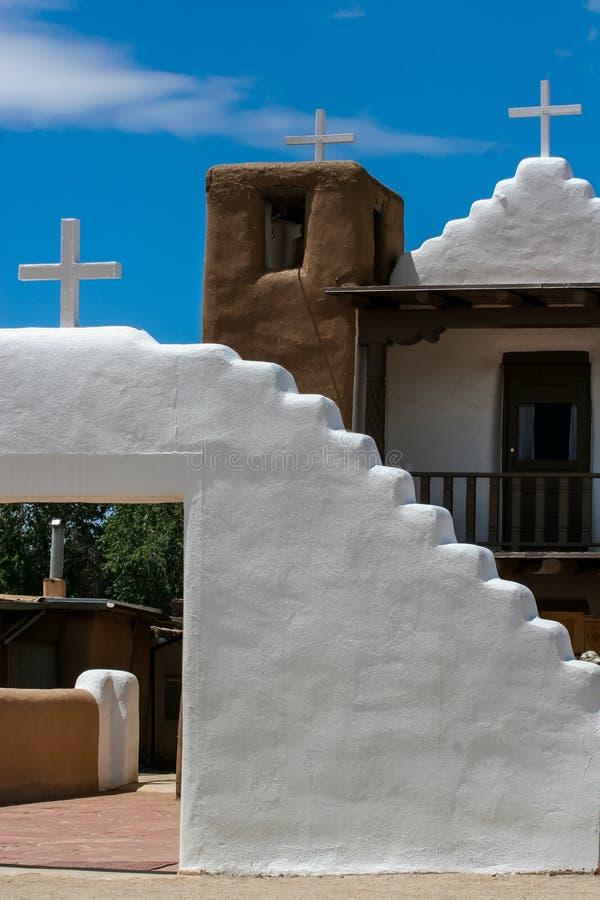 San Geronimo Chapel en el pueblo de Taos, los E imagen de archivo