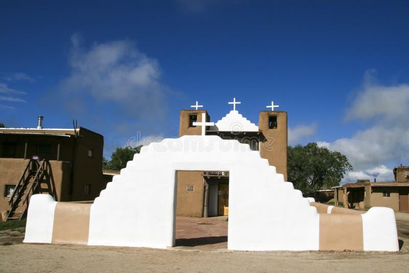 San Geronimo Chapel en el pueblo de Taos, los E foto de archivo
