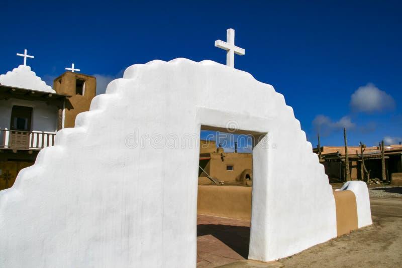 San Geronimo Chapel en el pueblo de Taos, los E imagen de archivo libre de regalías