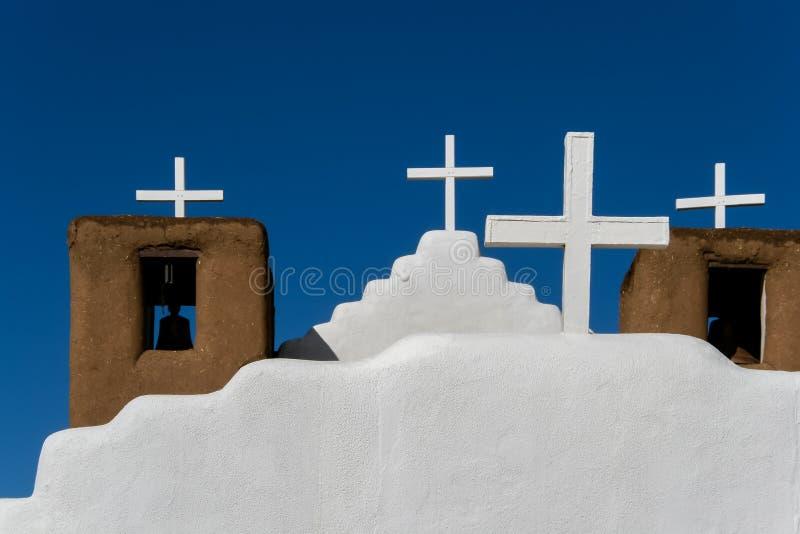San Geronimo Chapel en el pueblo de Taos, los E.E.U.U. imagen de archivo