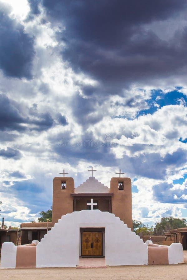 San Geronimo de Taos Church arkivbild