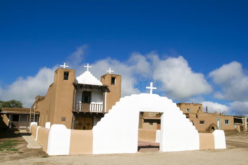 San Geronimo kaplica w Taos osadzie, usa obraz royalty free