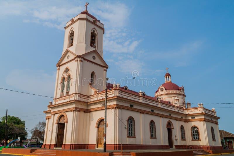 San Geronimo kościół w Masaya, Nicarag fotografia stock