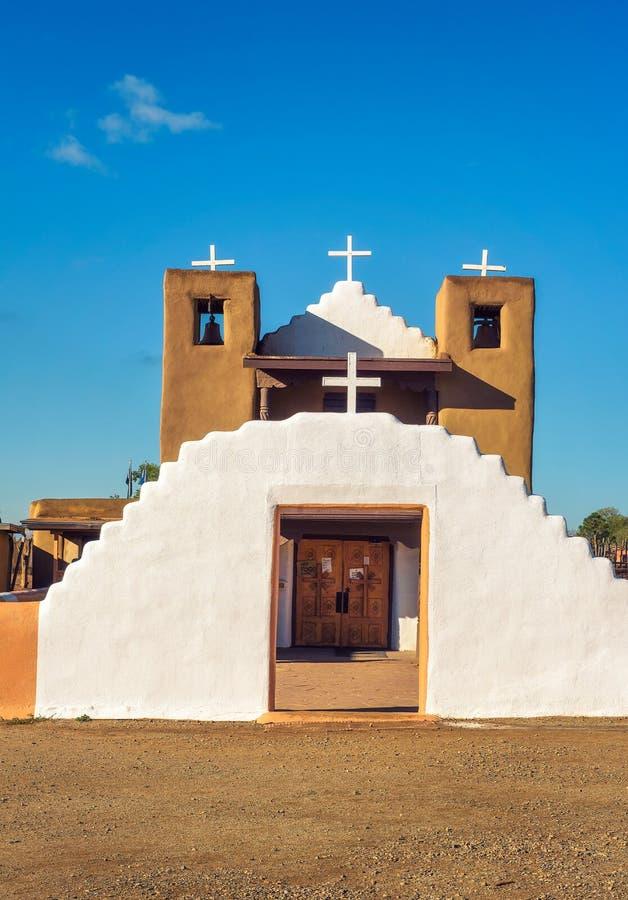 San Geronimo kościół w Taos osadzie, Nowej - Mexico zdjęcia stock