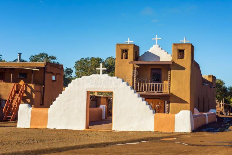 San Geronimo ko?ci?? w Taos osadzie, Nowej - Mexico fotografia royalty free