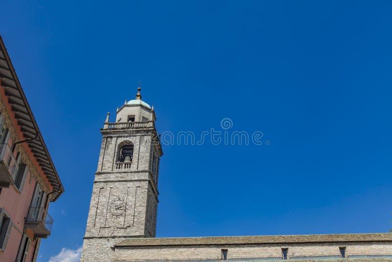 San Giacomo Church in Bellagio, Italien lizenzfreies stockfoto