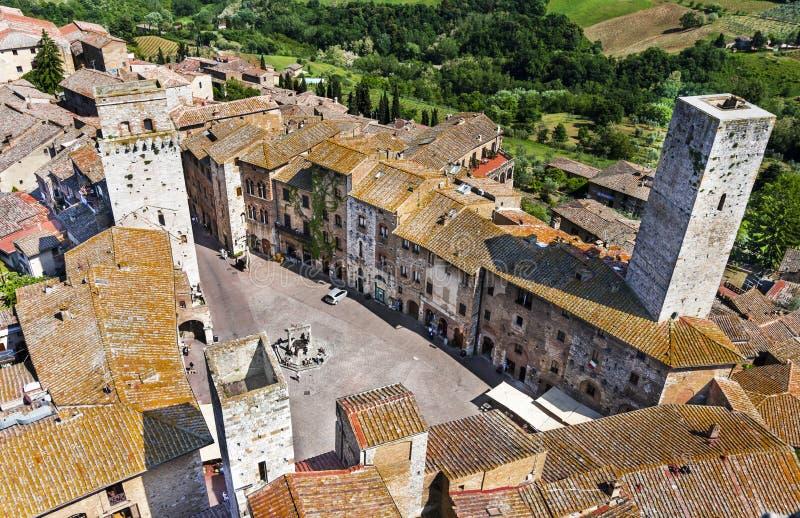 San Gimignano, Tuscany royaltyfri fotografi