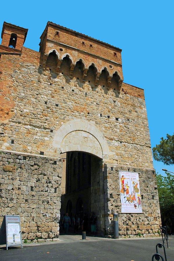 SAN Gimignano στην Τοσκάνη Ιταλία στοκ φωτογραφίες με δικαίωμα ελεύθερης χρήσης