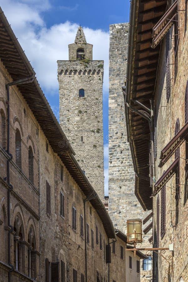SAN Gimignano - Τοσκάνη - Ιταλία στοκ φωτογραφία με δικαίωμα ελεύθερης χρήσης