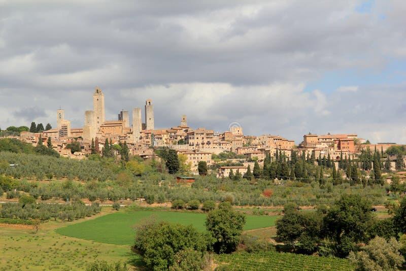San Gimignano в Италии стоковое фото rf