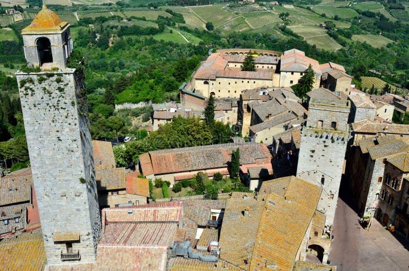 San Gimignano, ciudad de torres hermosas, Toscana imagen de archivo libre de regalías