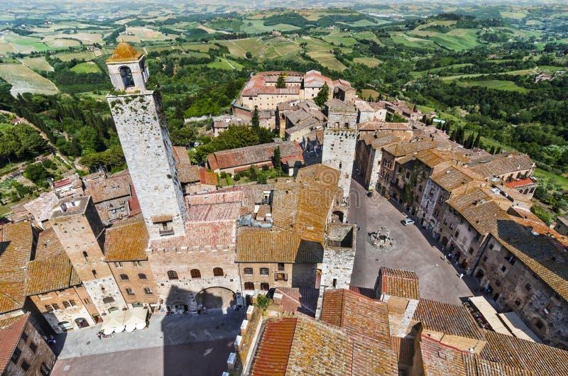 San Gimignano, Toscana fotografía de archivo