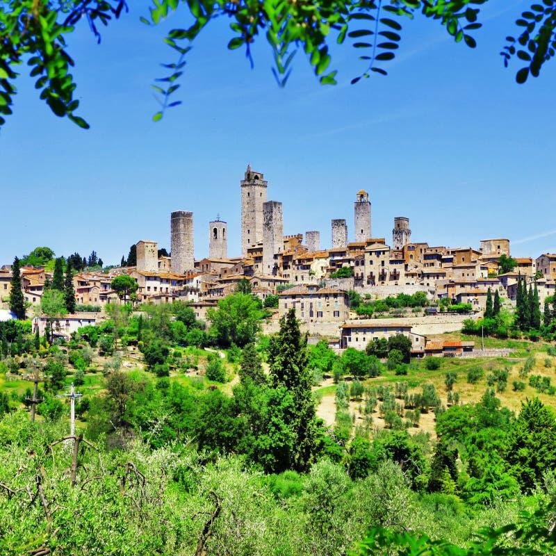 San Gimignano, Italia immagine stock