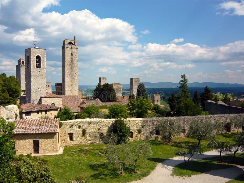 San Gimignano, Italie images libres de droits