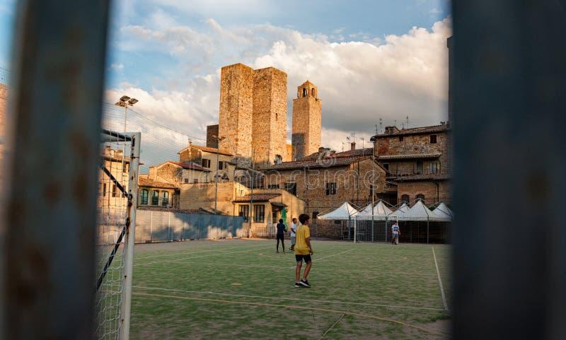 San Gimignano - Italien stockfoto