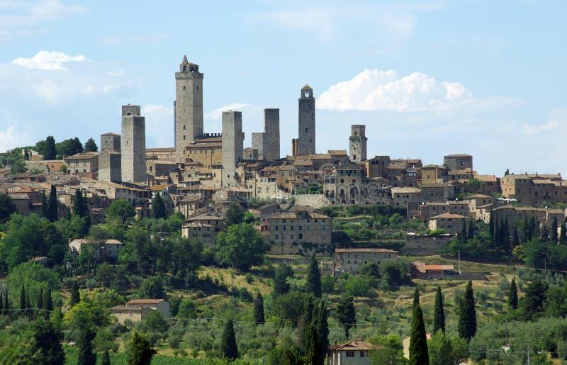 San Gimignano - la Toscana, Italia immagini stock libere da diritti