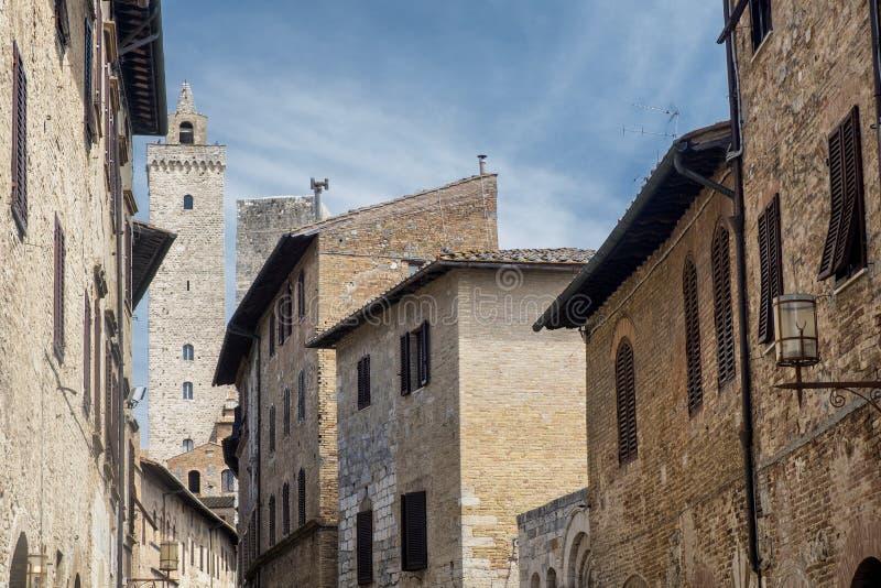 San Gimignano, Siena, na manhã imagens de stock royalty free